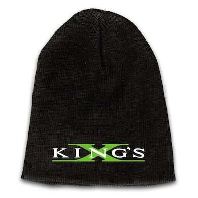 KING'S X Emblem Embroidered Logo Beanie - Green X