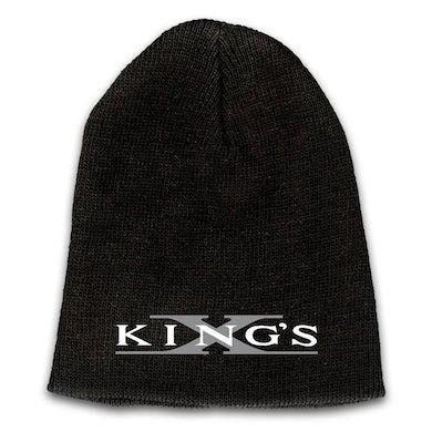 KING'S X Emblem Embroidered Logo Beanie - Grey X