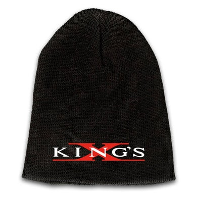 KING'S X Emblem Embroidered Logo Beanie - Red X