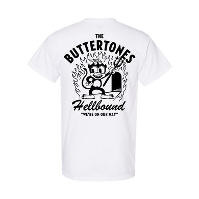 The Buttertones HELLBOUND TEE WHITE PREORDER