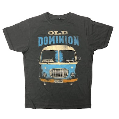 Old Dominion One Man Band Tour Bus Shirt CHARCOAL