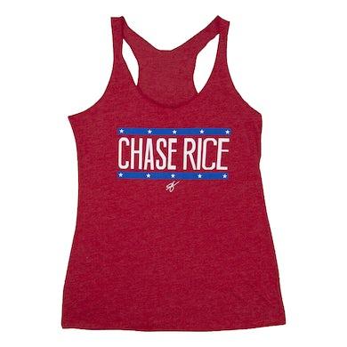 Chase Rice Ladies Flag Racerback Tank
