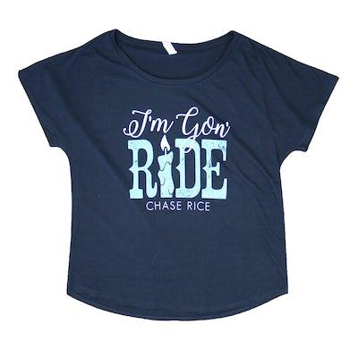 Chase Rice Ladies I'm Gon' Ride Tee - Navy