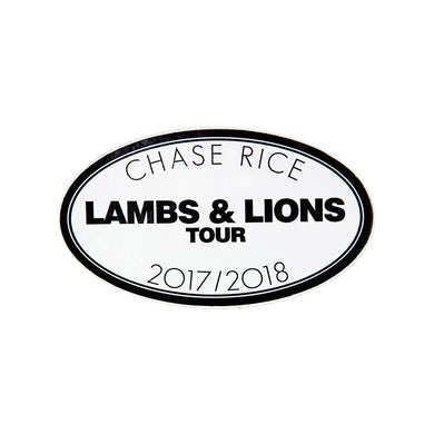 Chase Rice Lambs & Lions Tour Sticker