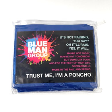 Blue Man Group Poncho