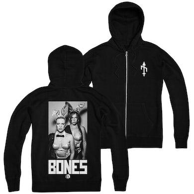 BONES UK - Bones Black Zip Up Hoodie