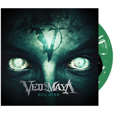 Veil Of Maya - 'Eclipse' Black Inside Trans Green w/ White Splatter Vinyl
