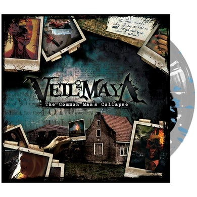 Veil Of Maya - 'The Common Man's Collapse' Black Inside Clear w/ Blue & White Splatter Vinyl