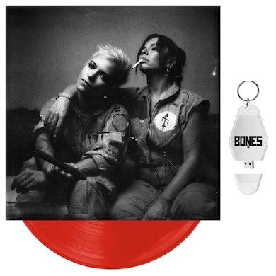 "BONES UK - 'Unplugged' Opaque Red 10"" Vinyl + USB Motel Keychain"