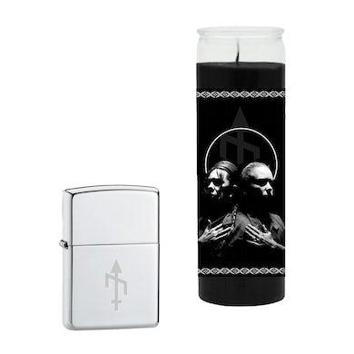BONES UK - 'Unplugged' Prayer Candle + Zippo Lighter Bundle