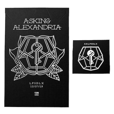 Asking Alexandria - 'LP5DLX' Black Screen Printed Poster Bundle