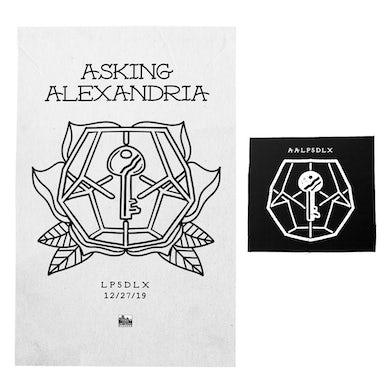 Asking Alexandria - 'LP5DLX' White Screen Printed Poster Bundle