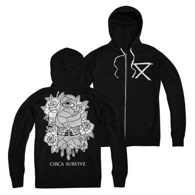 Wrapped Eye Zip Up Hoodie
