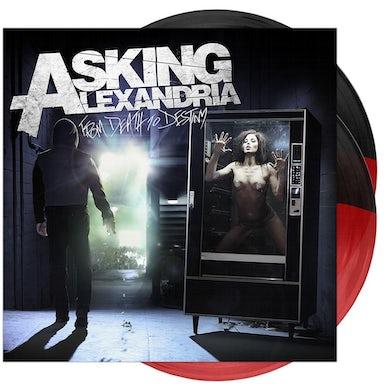 Asking Alexandria - 'From Death To Destiny' Trans Red/Opaque Black Half/Half Vinyl