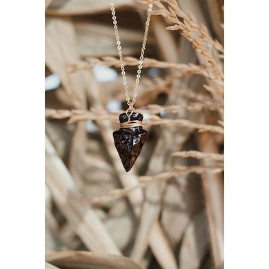 Joey Graceffa Black & Gold Arrowhead Necklace