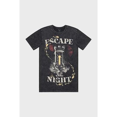 Escape The Night Mineral Wash Black Tee