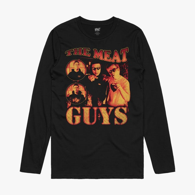 Tiny Meat Gang The Meat Guys Black Long Sleeve