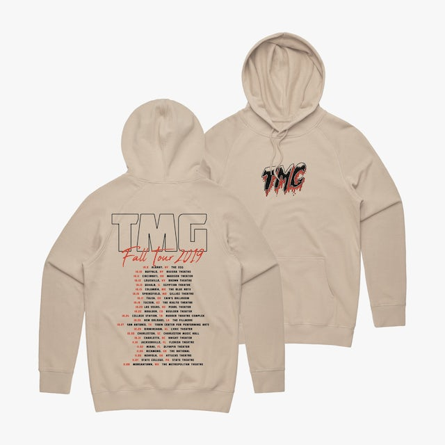 Tiny Meat Gang East West East Tour Hoodie Sand