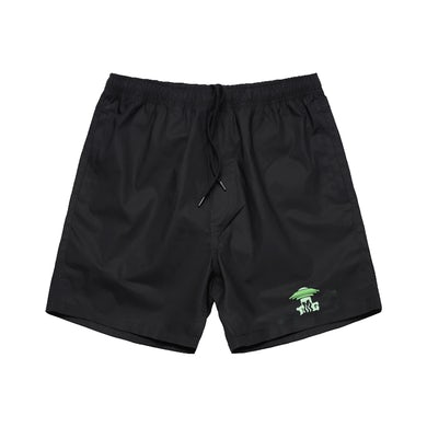 Tiny Meat Gang Abduction Black Beach Shorts