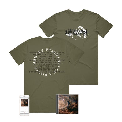 Dying Wish - 'Fragments Of A Bitter Memory' Cowards Bleed Tee & CD Pre-Order Bundle