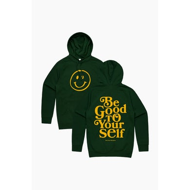 Theo Von Be Good To Yourself Forest Green Hoodie