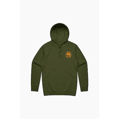 Theo Von Year Of the Rat King Army Green Hoodie