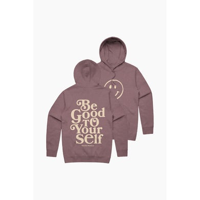 Theo Von Be Good To Yourself Heather Maroon Hoodie