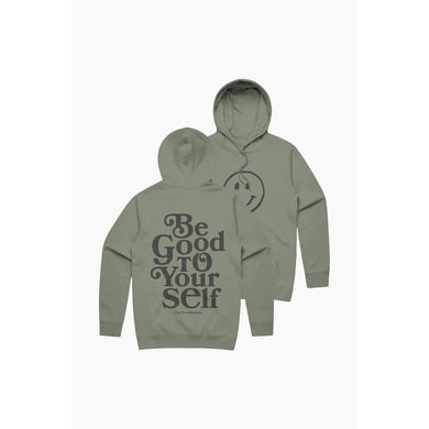 Theo Von Be Good To Yourself Military Green Hoodie