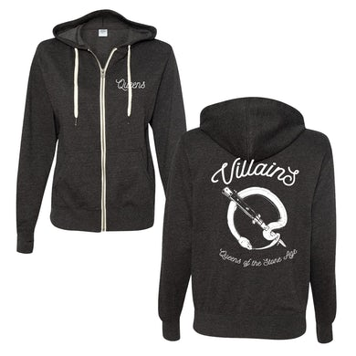 Queens Of The Stone Age Snake Logo Zip-Up Hoodie - Charcoal Heather