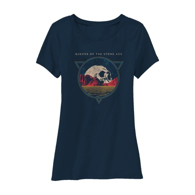 Queens Of The Stone Age Planet Skull Tee (Navy)