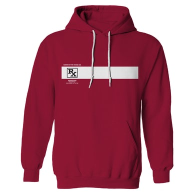 Queens Of The Stone Age Rated R Hoodie - Cardinal Red