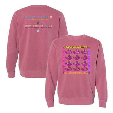 Queens Of The Stone Age Desert Sessions Crewneck - Red