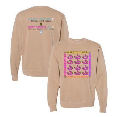 Queens Of The Stone Age Desert Sessions Crewneck - Tan