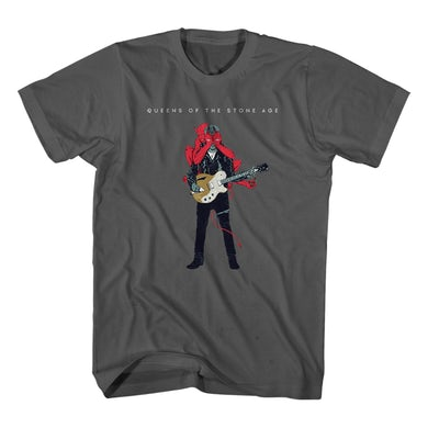 Queens Of The Stone Age Josh Villains Charcoal Tee