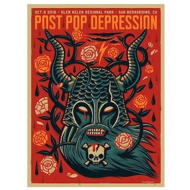 Iggy Pop Cal Jam Event Poster