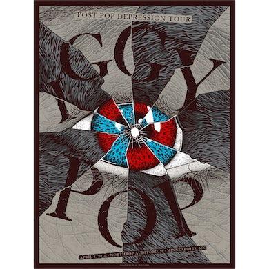Iggy Pop Minneapolis Show Poster 4/4/16