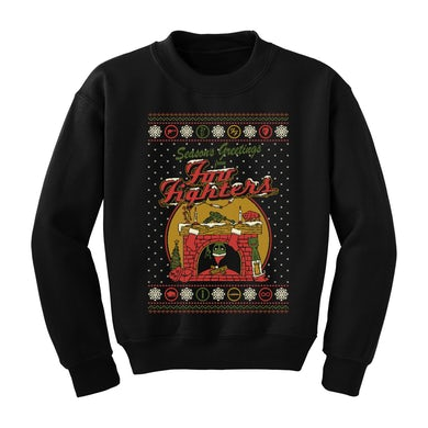 Foo Fighters Holiday Fireplace Crewneck