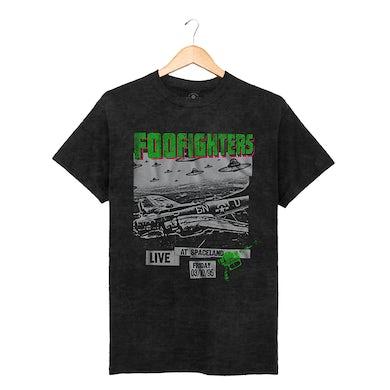 Foo Fighters Spaceland Black Oil Wash Tee