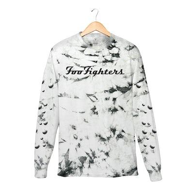 Foo Fighters Molecules Vintage White and Grey Crystal Wash Longsleeve