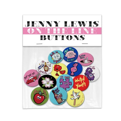 Jenny Lewis On The Line Button Set