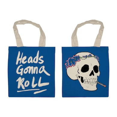 Jenny Lewis Heads Gonna Roll Skull Tote - Blue