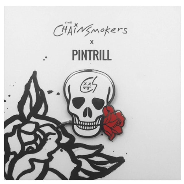 The Chainsmokers Skull Pin