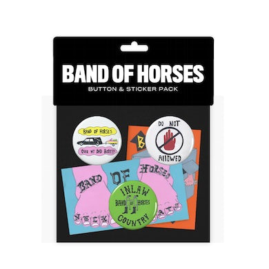 Band Of Horses Button Sticker Pack