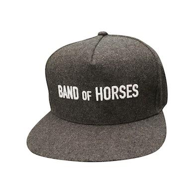 Band Of Horses Grey Wool Snapback Hat