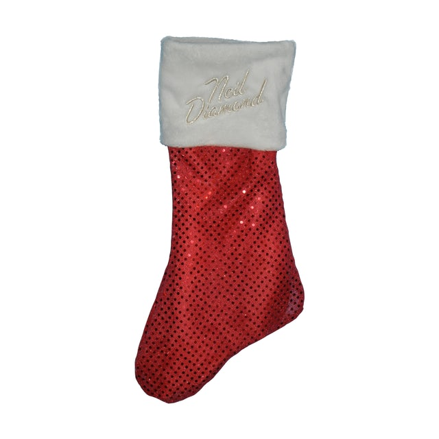 Neil Diamond Sequined Holiday Stocking (Red)