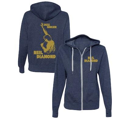 Neil Diamond Jazz Singer Zip-Up Hoodie