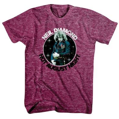 Neil Diamond Hot August Night Tee (Maroon)