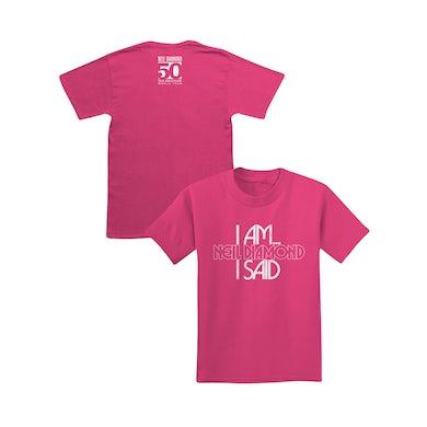 Neil Diamond I Am I Said Youth Tee (Pink)