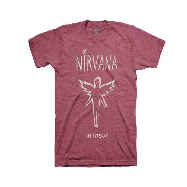 Nirvana In Utero Brush Tee (Heather Burgundy)