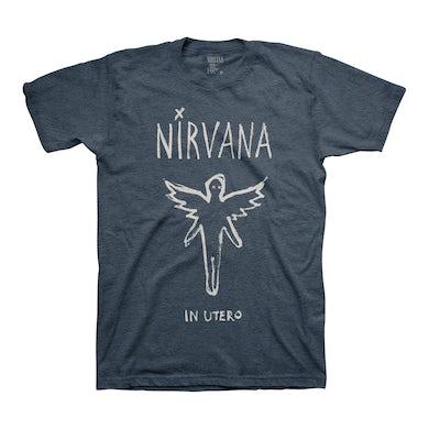 Nirvana In Utero Brush Tee (Heather Navy)